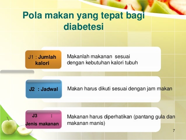 Pola Diet Diabetes Melitus