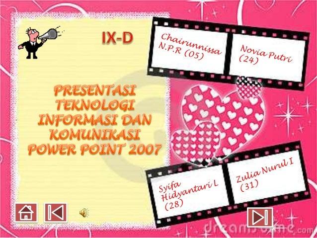 SMP N 18 SEMARANG    MENU                    MENGENAL POWER POINT   SK & KD    INDIKATOR                          KELAS 9 ...