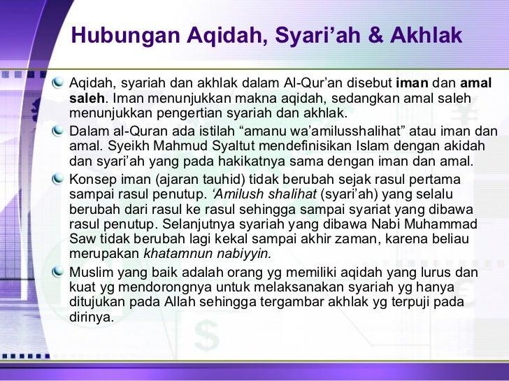Contoh Aqidah Syariah Dan Akhlak Dalam Kehidupan Sehari ...