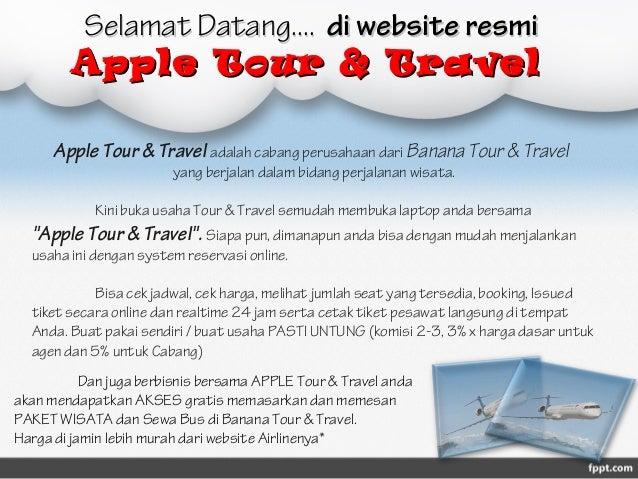 Presentasi Apple Tour Travel