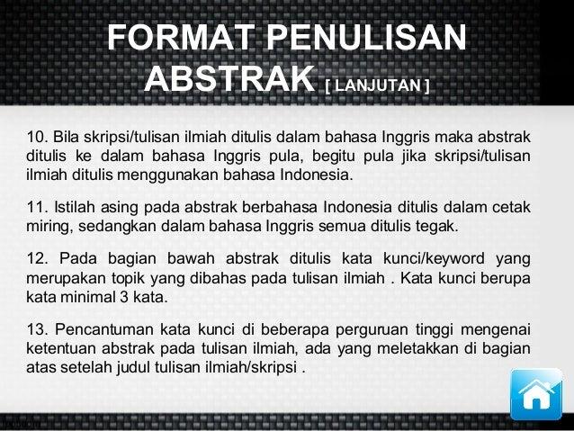 Presentasi Bahasa Indonesia Abstrak