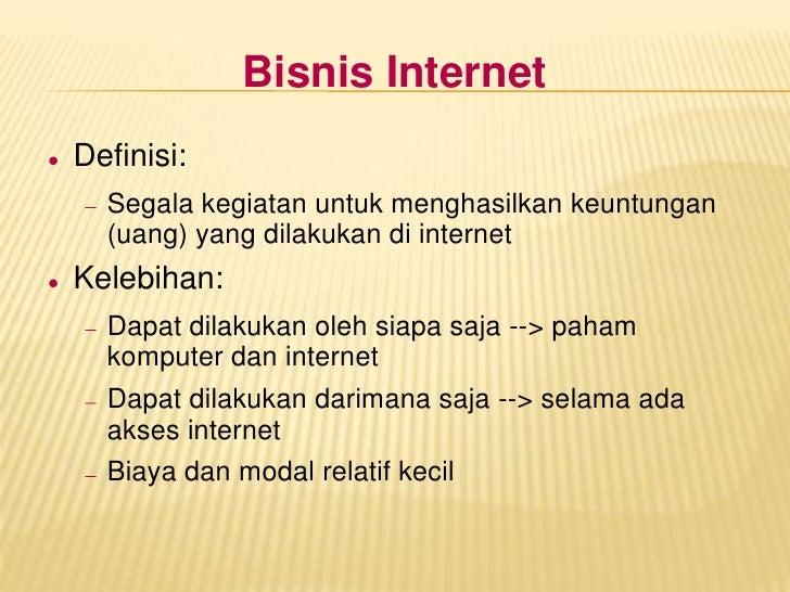 Mengenal Bisnis Internet Slide 2