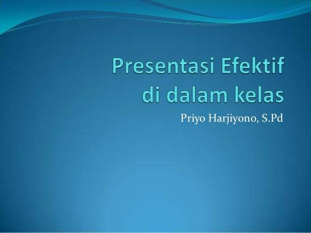 Priyo Harjiyono, S.Pd