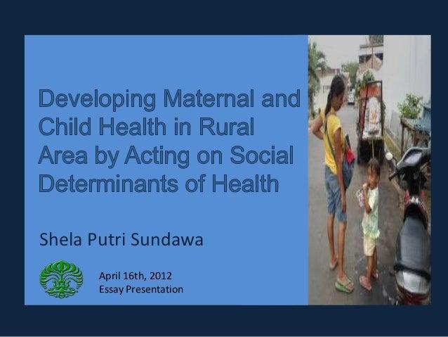 Shela Putri Sundawa      April 16th, 2012      Essay Presentation