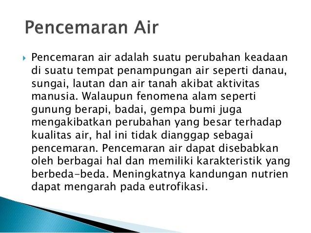 Geografi Pencemaran Air