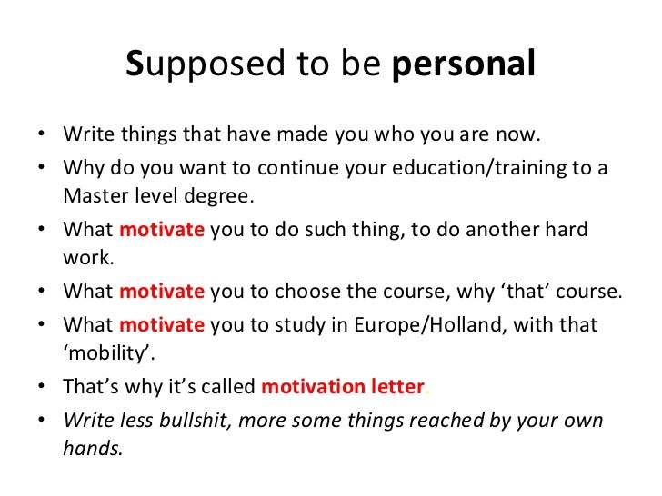 motivation letter holland education fair 2011