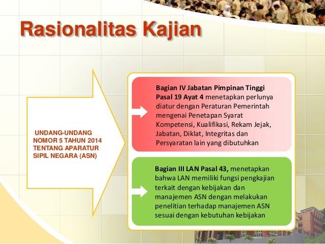 Kajian Pengembangan Kompetensi Aparatur Sipil Negara (ASN) Slide 3