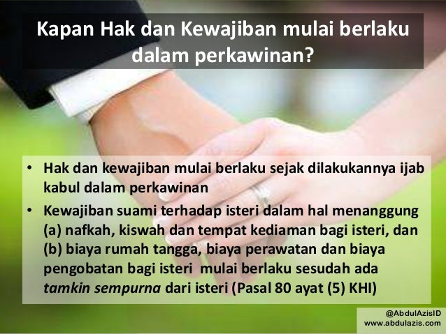 Hak Dan Kewajiban Suami Istri