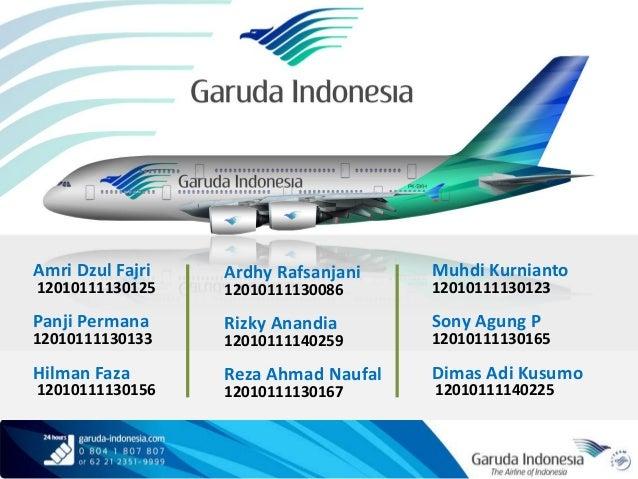 Marketing mix garuda indonesia