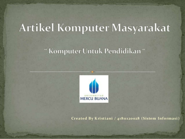 Created By Kristiani / 41811120028 (Sistem Informasi)