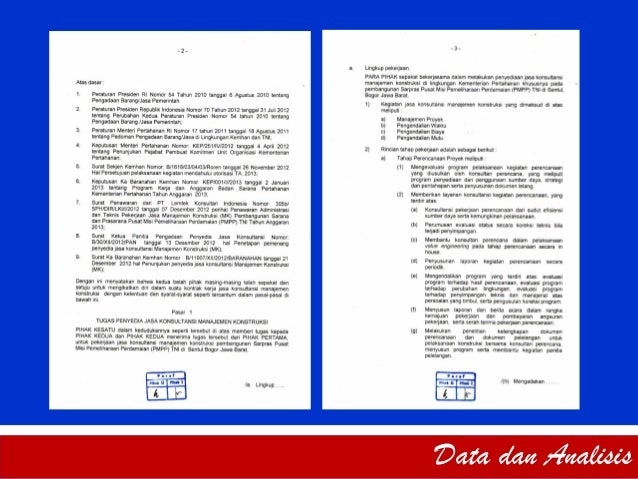 Contoh Evaluasi Kontrak Kerja Konstruksi