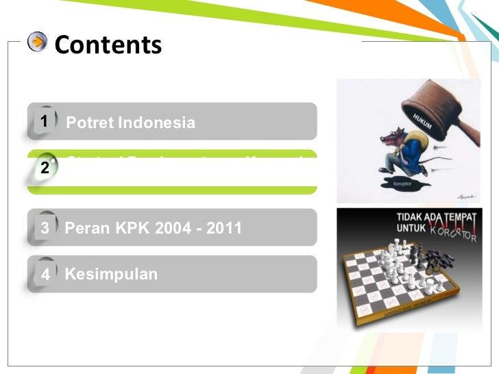 Contents1 Potret Indonesia2   Strategi Pemberantasan Korupsi    oleh KPK3 Peran KPK 2004 - 20114 Kesimpulan
