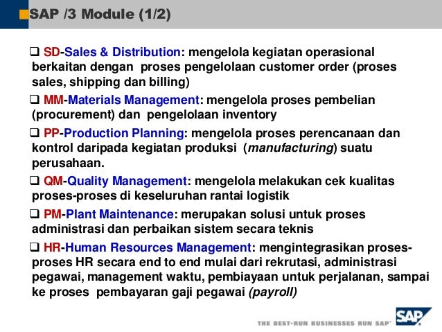 "R/2 ERP Evolution – SAP R/3 Enterprise (R3E) 1980""s 1990""s 2000""s 2005  R/3 Enterprise Core: for stable environment  R/3..."