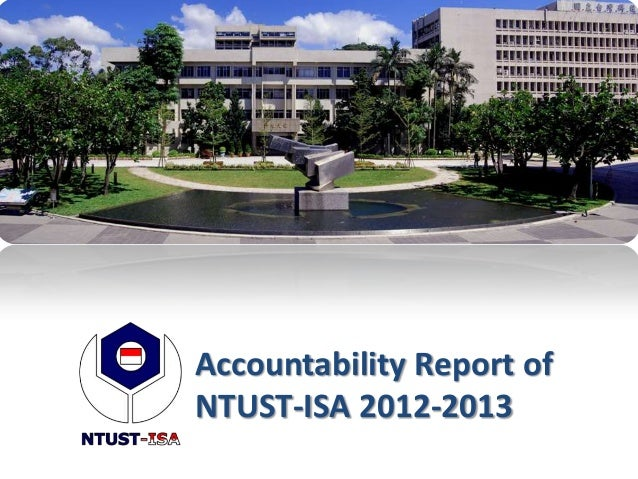 Accountability Report ofNTUST-ISA 2012-2013