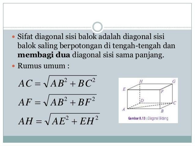 Matematika diagram balok 5 sifat diagonal sisi balok adalah ccuart Gallery