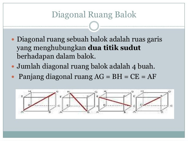 Matematika diagram balok 6 diagonal ruang balok ccuart Gallery