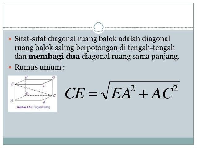 Matematika diagram balok 7 sifat sifat diagonal ruang balok adalah ccuart Gallery