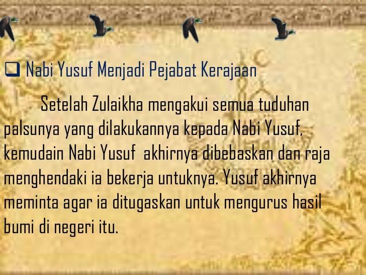 Presentasi nabi yusuf keel 7 sastra arab ugm