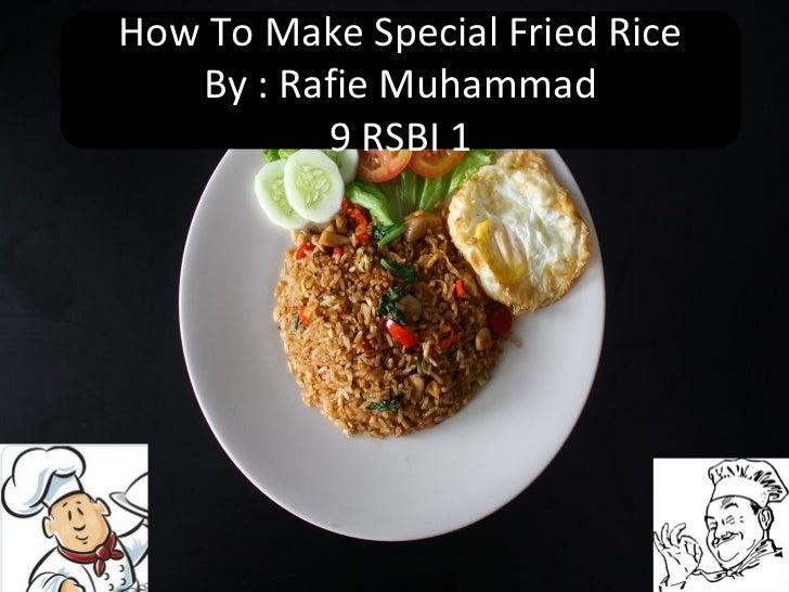 Presentasi Nasi Goreng Rafie M