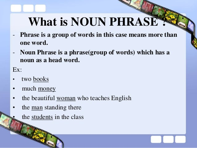 noun phrase modifier