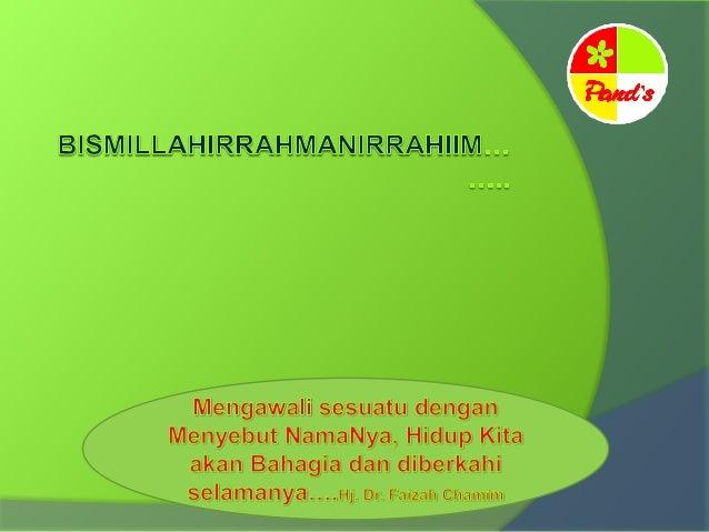 Hj. dr. Faizah Chamim Pendidikan : SD, SMP, SMA di Kendal Lulus Kedokteran Unissula Semarang tahun 1981 1978 : Menikah 198...