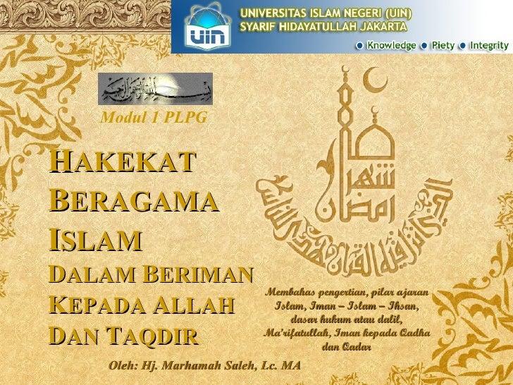 Hakekat Beragama Islam
