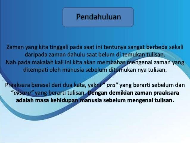 Presentasi Zaman Pra Aksara