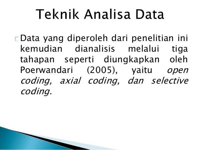 Data yang diperoleh dari penelitian ini kemudian dianalisis melalui tiga tahapan seperti diungkapkan oleh Poerwandari (200...