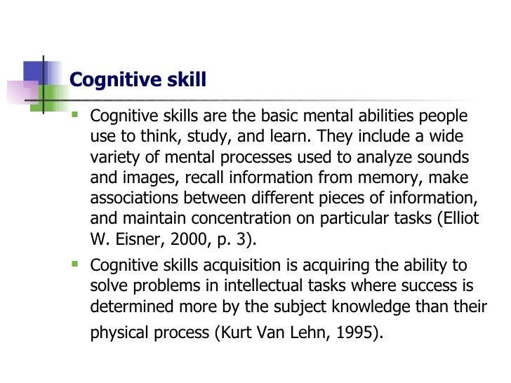 Cognitive Skills and Study Methods - Edublox Online Tutor
