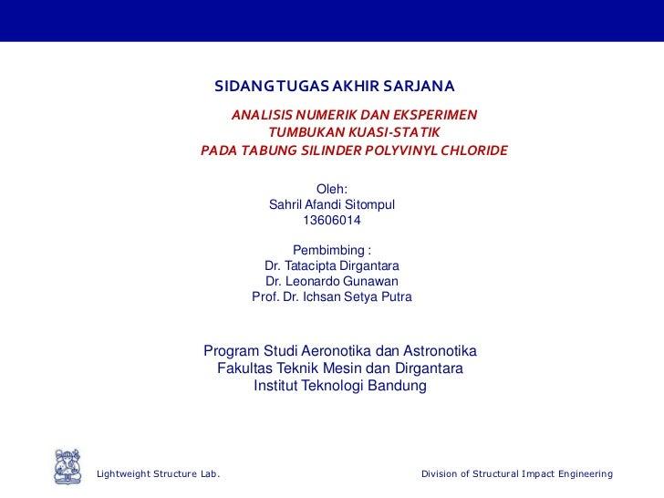 Presentasi Tugas Akhir