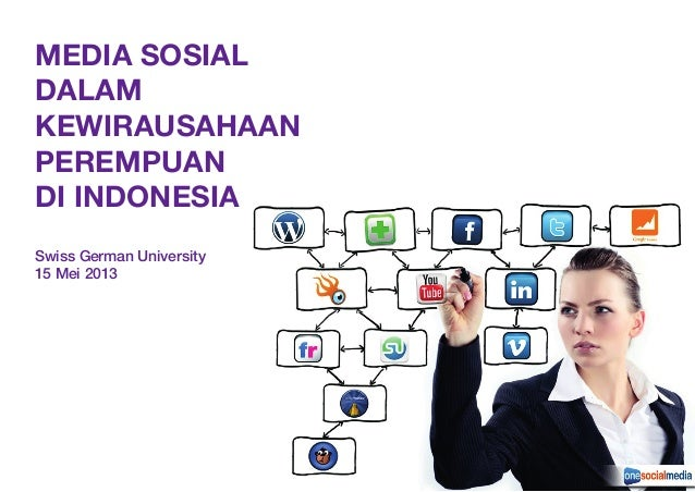 MEDIA SOSIALDALAMKEWIRAUSAHAANPEREMPUANDI INDONESIASwiss German University15 Mei 2013