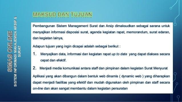 Presentasi Simas Sistem Informasi Manajemen Arsip Dan Surat