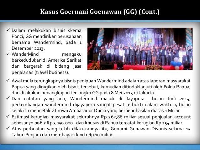 Kasus Penipuan (Fraud) Skema Ponzi di Indonesia