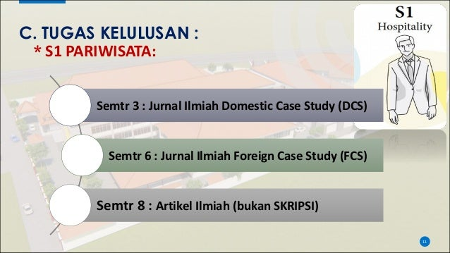 C. TUGAS KELULUSAN : * S1 PARIWISATA: 11 Semtr 3 : Jurnal Ilmiah Domestic Case Study (DCS) Semtr 6 : Jurnal Ilmiah Foreign...