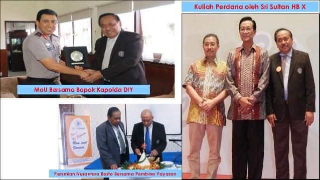 22 Kuliah Perdana oleh Sri Sultan HB X MoU Bersama Bapak Kapolda DIY Persmian Nusantara Resto Bersama Pembina Yayasan
