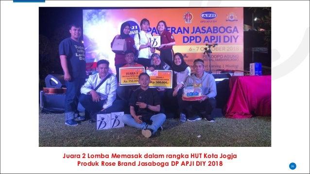 26 Juara 2 Lomba Memasak dalam rangka HUT Kota Jogja Produk Rose Brand Jasaboga DP APJI DIY 2018