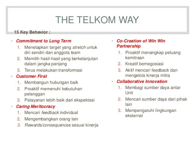 Presentasi telkom way LEADERSHIP ARCHITECTURE AND CORPORATE CULTURE T…