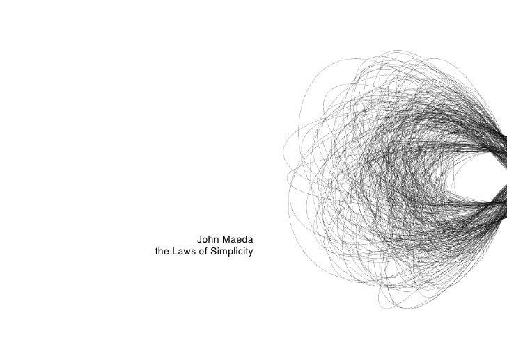 John Maedathe Laws of Simplicity