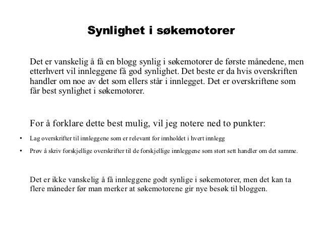 hvordan skrive blogg Åndalsnes