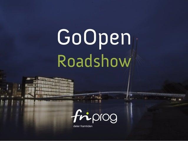 GoOpen Roadshow