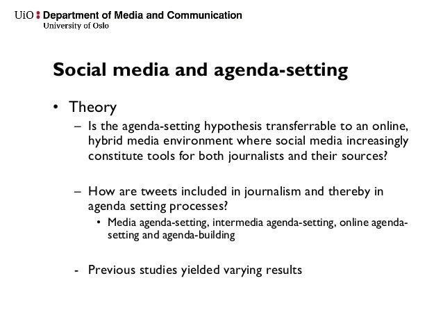 The Mass Media's Political Agenda-Setting Power