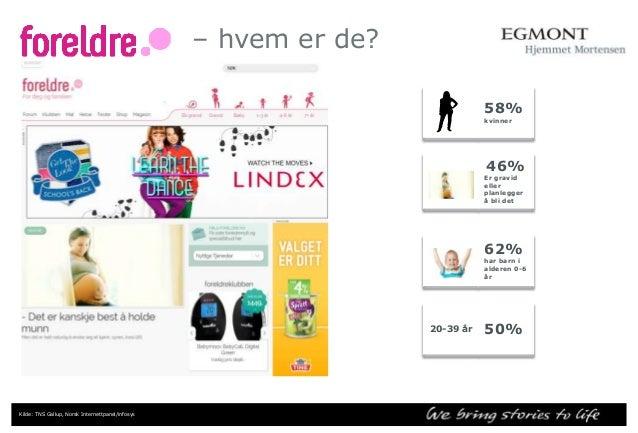 Sammenlignbare nettsider for foreldre/familie  Nettsider  Mnd. dekning  Mnd dekning i %  Foreldre.no  637 000  16,5%  ABC ...