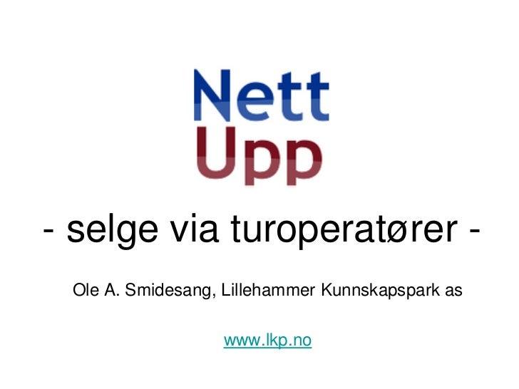 - selge via turoperatører - Ole A. Smidesang, Lillehammer Kunnskapspark as                  www.lkp.no
