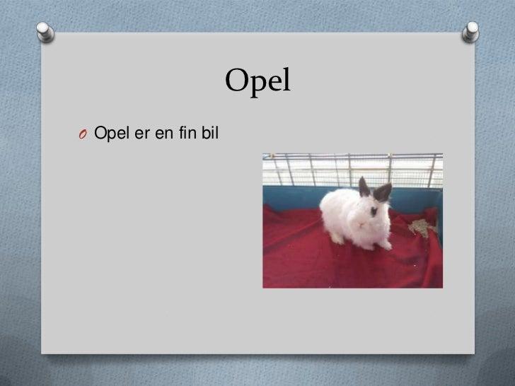 OpelO Opel er en fin bil