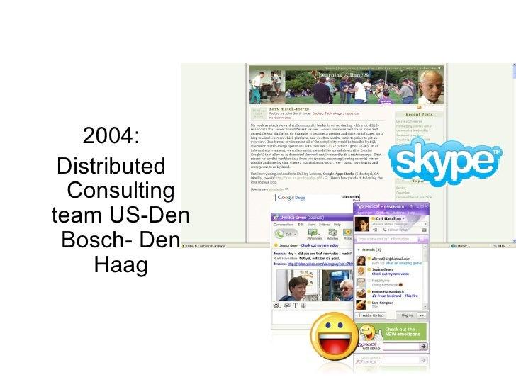 2004: Distributed Consulting team US-Den Bosch- Den Haag