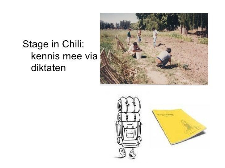 Stage in Chili: kennis mee via diktaten