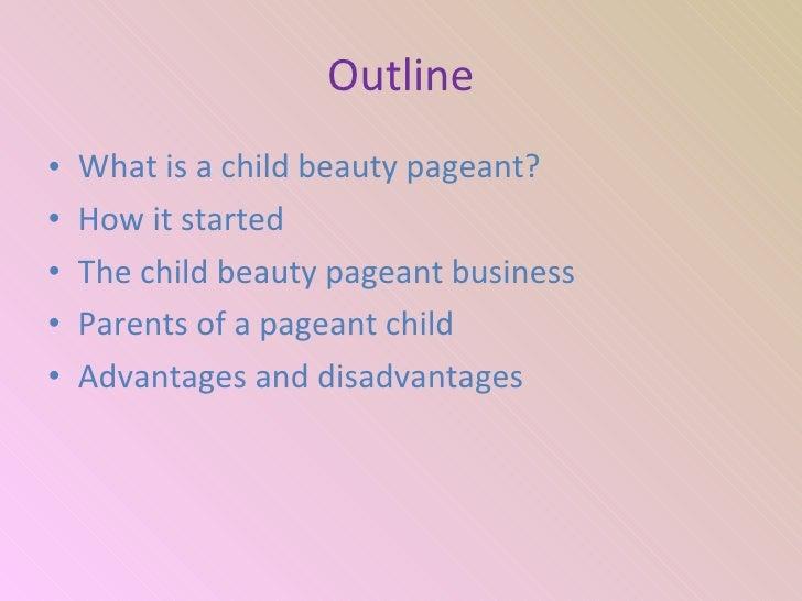 argumentative essays on child beauty pageants