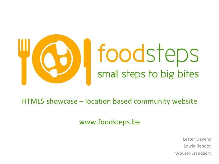 HTML5 showcase – loca:on based community website                                                      www....