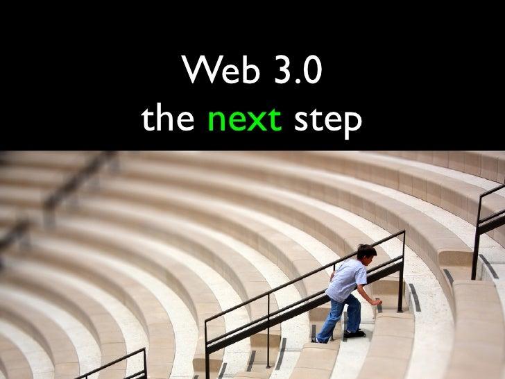 Web 3.0the next step
