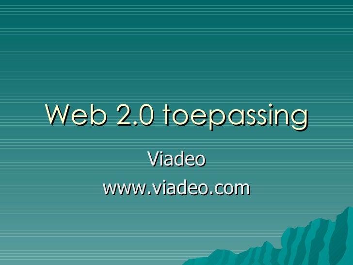 Web 2.0 toepassing Viadeo www.viadeo.com